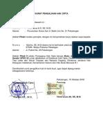Surat Pengalihan Hak Cipta