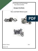 portfolio a4 junior school nut and bolt motorcycle