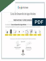Certificado Curso de Desarrollo de Apps Móviles