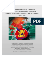 Thayer From Confidence Building, Preventive Diplomacya and Dispute Resoluton to the ASEAN-China South China Sea Code of Conduct
