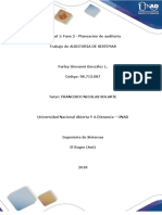 Unidad 1 Fase 2 - Planeación de Auditoría_FarleyGonzalez