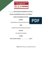 ELEMENTOSDE INSTALACIONES ELECTRICAS