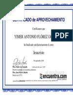 Certificado  Curso Cristologia