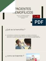 Pacientes hemofílicos CIRUGIA