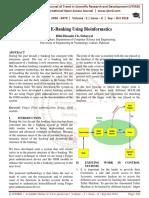 Secure E-Banking Using Bioinformatics