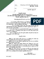 QD 62-27-01-2003-Bao cao dinh ky DNNN.doc