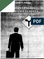 Ricardo Solana - Administración de organizaciones en el umbral del tercer milenio