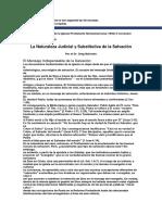 Bahnsen. La Naturaleza Judicial y Sustitutiva de La Salvacion