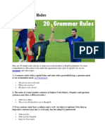 20 Grammar Rules