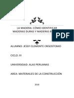 Maderas Duras y Maderas Blandas