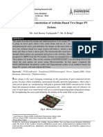 DESIGN AND IMPLEMENTATION OF ARDUINO BASED TWO STAGE PV SYSTEM