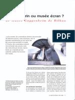 Musee Ecrin Ou Musee Ecran - Guggenheim de Bilbao