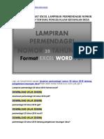 Download Format Excel Lampiran Permendagri Nomor 20 Tahun 2018 Tentang Pengelolaan Keuangan Desa