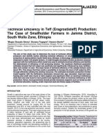Technical Efficiency in Teff (Eragrostis teff) Production