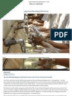 Emotional Messaging Changes Handwashing Behaviour