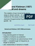 As OCR DementKleitmanREM