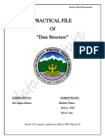 Practical File of Data Structure