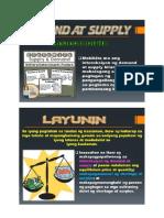 Interaksyon Ng Demand at Supply