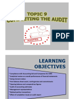 TOPIC 9 Completing the Audit