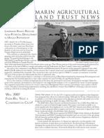 Spring 2007 Marin Agricultural Land Trust Newsletter