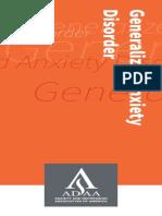 ADAA GeneralAnxietyDisorderBrochure