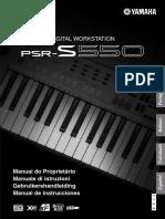 Manual PSR S550
