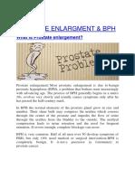 PROATATE ENLARGMENT & BPH TREATMENT