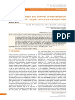 [Open Chemistry] Electrosynthesis and Thermal Characterization of Basic Copper Carbonate Nanoparticles