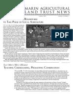 Summer 2009 Marin Agricultural Land Trust Newsletter