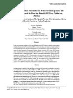 Validación del IIEF-5 para Chile