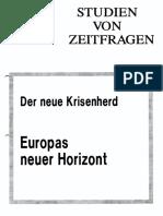Europas Neuer Krisenhorizont