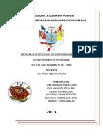 Sector gastronómico en PERU