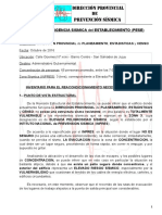 Plan de Prevencion Sismica de la DIPEC-Jujuy