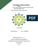 Makalah Sejarah peradaban Islam di China (Ahmad Maulana 1162080006).pdf