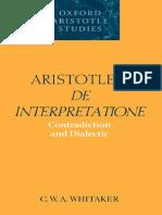 Whitaker - Aristotle Interpretation