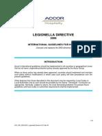 ACC WE GCL0001 Legionnella Directive