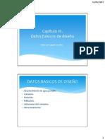 Clase III - Datos Basicos de Diseño
