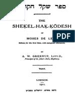 Moses de Leon - Sefer Shekel haKodesh.pdf