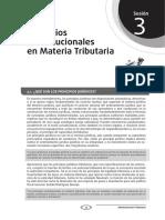 Principios Constitucionales en Materia Tributaria