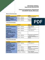 Programa General de ExpoCiencias