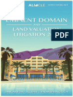 2019 Brochure, ALI-CLE Eminent Domain and Land Valuation Litigation Conference (CA007), Palm Springs, CA Jan 24-26, 2019