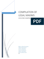 Compilation of Legal Maxims Statutory Co