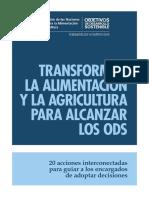 Transformar la alimentación y la agricultura para alcanzar los ODS