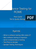 Software Testing of Rome