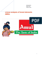 ca of brand elements of amul