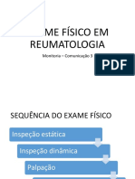 SEMIOLOGIA REUMATOLÓGICA - Monitoria