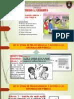 LEY N° 27806 - LEY DE TRANSPARENCIA Y ACCESO A LA INFORMACION PÚBLICA