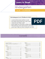 Kindergarden Level 1 Workbook