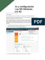 Instalación y Configuración de WSUS en MS Windows Server 2012 R2