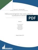 Política Comercial Agrícola- Nivel, Costos y Efectos de La Protección en Colombia_2017